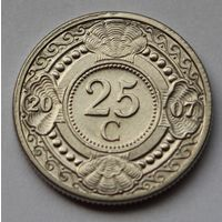 Нидерландские Антильские острова, 25 центов 2007 г.
