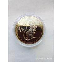 Памятная монета Китайский Зодиак. 1 юань 2020 год Крысы. PROOF. Без мц.