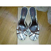 Туфли открытые,натуральная кожа рептилии,39