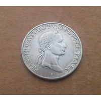 Венгрия (под властью Габсбургов), Франц I (1792-1835), 20 крейцеров 1833 г., серебро