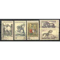 Лошади в живописи Чехословакия 1969 год серия из 5 марок