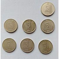 Лот монет Турции 5 курушей