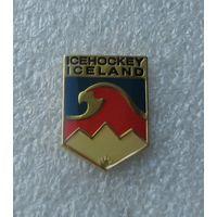 Официальный значок - Федерация хоккея Исландии