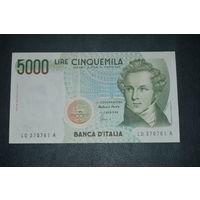 Италия 5000 лир образца 1985 года AUNC p111