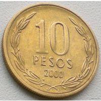 Чили, 10 песо 2000 года