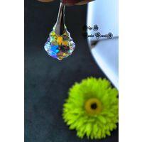 Серьги Идеал с подвесками Baroque Swarovski Crystal AB