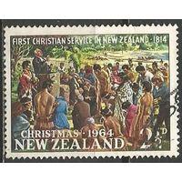 Новая Зеландия. Рождество. 1964г. Mi#435.