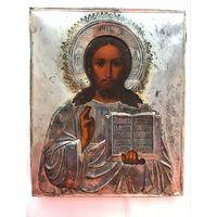 Икона Господь Вседержитель. Оклад серебро 84