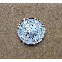 Нидерландские Антильские острова, 1/4 гульдена 1962 г., Юлиана (1948-1980), серебро