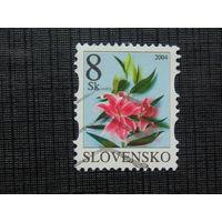 Словакия 2004г. Цветы.