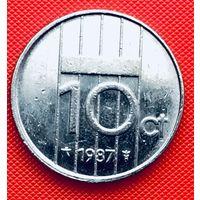 12-28 Нидерланды, 10 центов 1987 г.