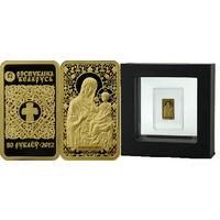 Икона Пресвятой Богородицы Барколабовская, 50 рублей 2012, Золото