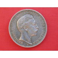 Три марки 1910 г. А серебро Германия.