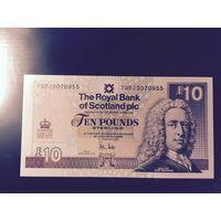 ШОТЛАНДИЯ 10 фунтов 2012 год UNC ПРЕСС Uncirculated 60-летию правления королевы Елизаветы II, 06.02.