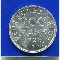 Германия 200 марок 1923 J (Гамбург ) , VF