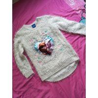 Нарядный свитер с огоньками, р.110-116