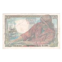 Франция 20 франков 1949 года. Дата 10 марта. Нечастая! Состояние VF+!