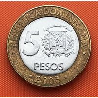 120-23 Доминиканская Республика, 5 песо 2005 г.