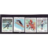 Гвинея-Биссау. Хоккей,Лыжи,Фигурное катание.Зимние Олимпийские игры.Сараево.1984.