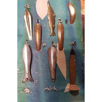 Набор Блёсны 10 штук для рыбалки СССР в коллекцию настоящему рыбаку
