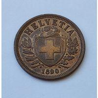 Швейцария 2 раппена, 1890 7-5-38