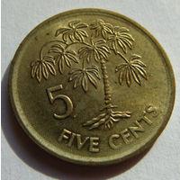 Сейшелы 5 центов 2007 г