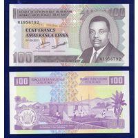 БУРУНДИ 100 франков 2011 год ПРЕСС из пачки UNC