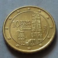 10 евроцентов, Австрия 2008 г., AU