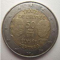 Франция 2 евро 2013 г. 50 лет Елисейскому договору (a)
