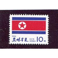 КНДР. Национальный флаг