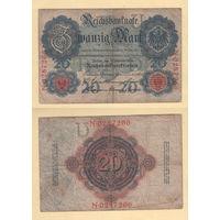 Германия 20 марок 1914 год N-0287266