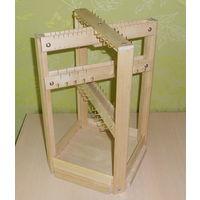 Квадратный настольный деревянный органайзер для ювелирных изделий