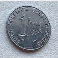 Западная Африка (BCEAO) 1 франк, 1978  8-11-8