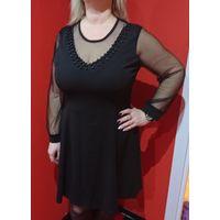 Эффектное черное платье 52-54