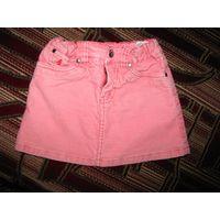 Юбка джинсовая розовая H&M