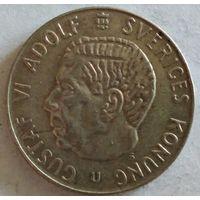 Швеция 1 крона 1965 серебро