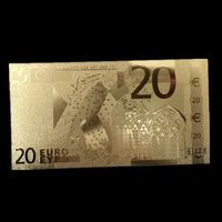 Золотая банкнота 20 евро. распродажа
