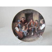 Тарелка настенная фарфор Отпускник Lilien Porzellan Австрия художник Franz von Defregger, Bradex.