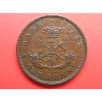 1 пенни 1850 года Верхняя Канада