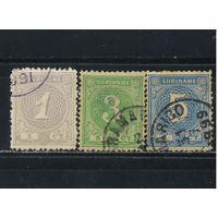 NL Колонии Суринам 1890 Номинал Стандарт #22,25,26