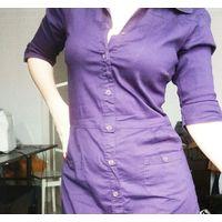 Лёгкое фиолетовое платье