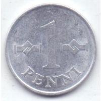 Финляндия, 1 пенни 1971, 1972, 1974, 1975 гг.