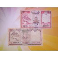 Непал 5 и 10 рупий 2008-10