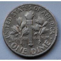США, 10 центов 1969 г. D
