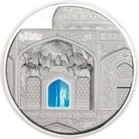 "RARE Палау 20 долларов 2020г. Тиффани ""Tiffany Art: Исфахан Proof"". Монета в капсуле; подарочном футляре; сертификат; коробка. СЕРЕБРО 93,30гр.(3 oz)."