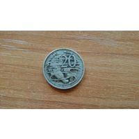 20 центов 1973 года, Австралия, Елизавета II/ Утконос