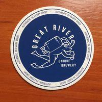 "Подставка под пиво ""Great River"" /Санкт-Петербург, Россия/"