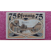 75 Пфеннигов -1921- Herzlake -Германия- *-практически идеальная-