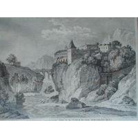 Офорт Вид на Фрибург. 1780-е годы. 2