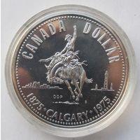 Канада 1 доллар 1975 100 лет городу Калгари